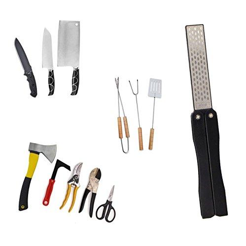 Messerschärfer, 400/600 Grit Falttasche Diamond Whetstone, Handheld doppelseitiger Wetzstein für Outdoor Camping Küche Garten