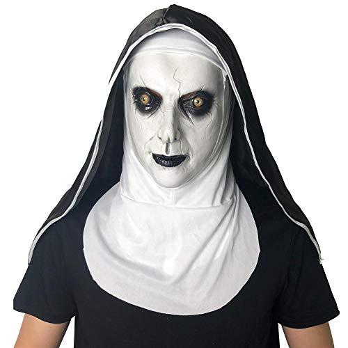 Halloween Scary Maske Cosplay Ghost Face Shield für Karneval Ostern - Kostüm für Erwachsene, Karneval & Halloween (Ghost Face Kostüm Für Erwachsene)