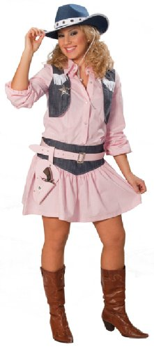 Karneval Damen Kostüm Cowgirl in rosa Western an Fasching Größe 38