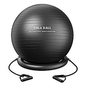 Homitt Gymnastikbälle, Balance Ball 75CM, Yoga Ball Fitnessball Anti-Burst...