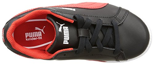Puma Jungen Smash Fun L Sneaker Noir (Black/High Risk Red)