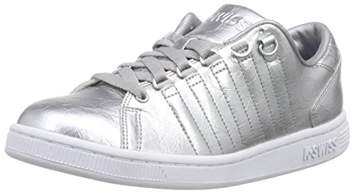 K-Swiss - Lozan Iii Aged Foil, Scarpe da ginnastica Donna Argento (Silber (Silver/White))