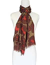 Vozaf Women's Viscose Shawls - Olive And Red