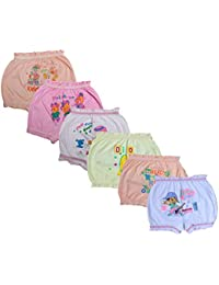Indistar Girls Cotton Printed Bloomers/Panties(Pack of 6)