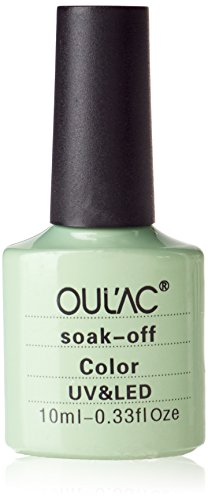 Oulac Nail Varnish Gel, 10 ml, salviettine Detergente per rimuovere, colore: verde