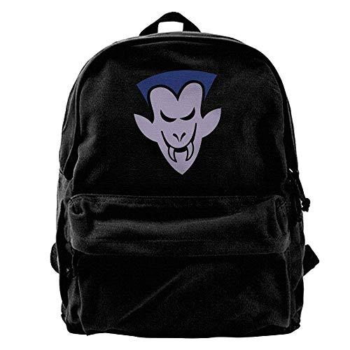 ughty Halloween Vampire Outdoor Backpack School Bags Travel Backpack Canvas Christmas Backpack ()