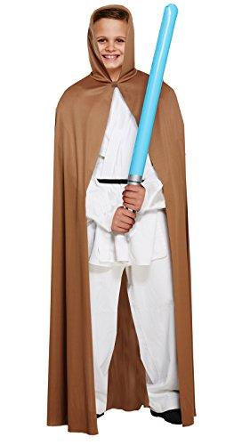 Henbrandt Kind Jedi Style Star Wars braun, Cape, Medium 7–9Jahre (Cape Nur)