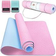 Tappetino da Yoga TPE Tappetino Fitness Palestra Pilates Tappetini Sport Materassino Yoga Mat Antiscivolo Pieg