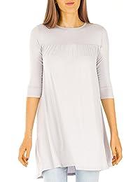 bestyledberlin robes femmes, longtop, blouse t63p