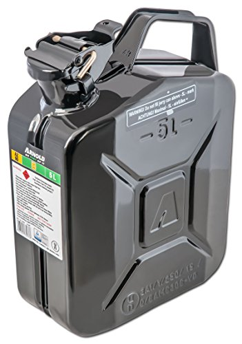 Bidon à carburant 5l, noir, en métal Arnold 6011-X1–2000