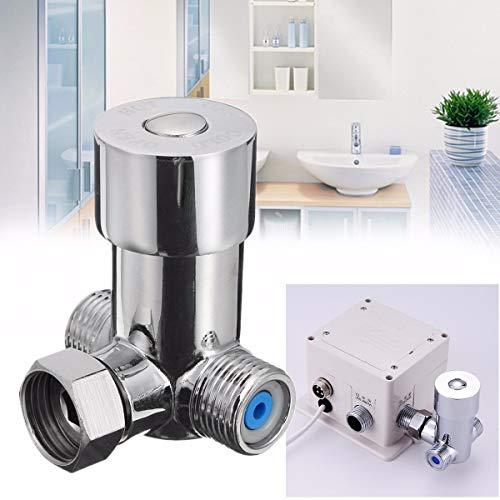 Luxury-uk Einfache Dekoration Temperaturregelventil Heiß und Kalt Thermostat Ventil Temperatur Mischventil Messing Wasserhahn Regelventil (Temperatur-regelventil)