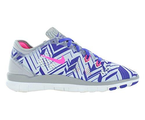 Nike - Nike Free 5.0 Wmns Tr Fit 5 Prt Scarpe Sportive Nere Verdi Tela 704695 Grigio