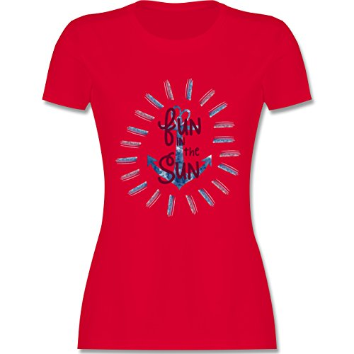 Statement Shirts - Fun in the sun - tailliertes Premium T-Shirt mit Rundhalsausschnitt für Damen Rot