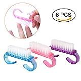 Gutian manico spazzola per unghie nail Hand scrubbing spazzola di pulizia pennello per unghie, 6pezzo