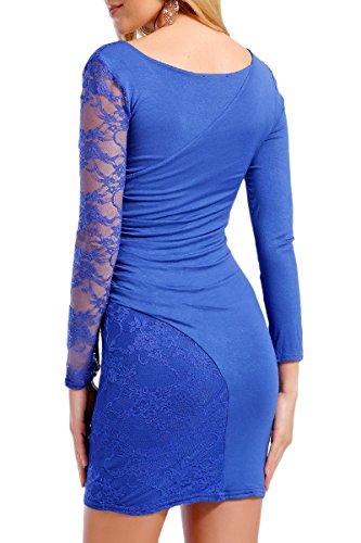 INFINIE PASSION - Dentelle - Robe sexy bleu roi Bleu roi