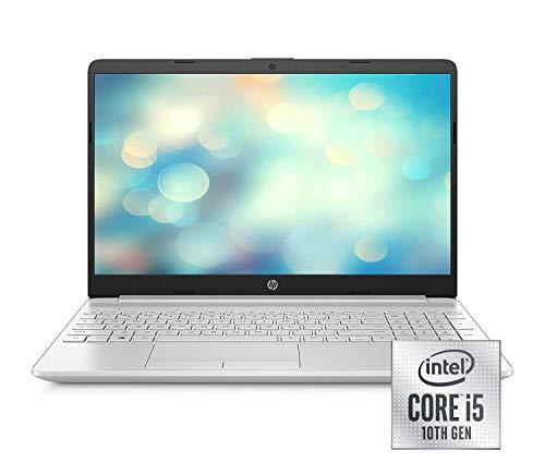 HP 15-dw1233ng (15,6 Zoll / Full HD) Laptop (Intel Core i5-10210U, 8GB DDR4 RAM, 512GB SSD, Nvidia GeForce MX130 2GB GDDR5, Windows 10 Home) silber -