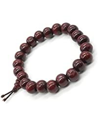 Bois de Santal Bracelet Bouddhiste Tibétain Bouddha Méditation Hommes Bracelet élastique 8 mm Perles Mala Prière