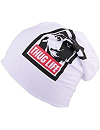 Bonnet Oversize blanc Thug Life - Mixte