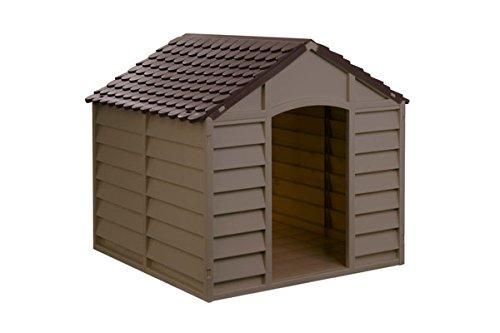 Avanti trendstore cuccia per cani in resina maxi plastica marrone taglia media grande 78x84x85 cm