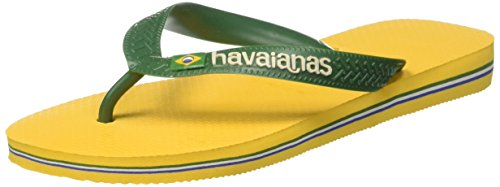 Havaianas Brasil Logo, Tongs Mixte Adulte Jaune (Banana Yellow)