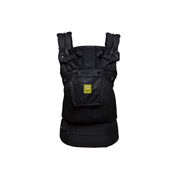 LÍLLÉbaby  Complete Airflow 6-in-1 Baby Carrier, Black Lillebaby Made from breathable mesh fabric to help keep parent and child cool and comfortable and with 6 carrying positions - Foetal, infant inward, outward, toddler inward, hip, back - The only carrier you'll ever need! Suitable from 3.2- 20kg (birth to approx. 4 years old), providing extended comfortable use for parent and child with no additional infant support required for new-borns - the ergonomic adjustable seat is acknowledged as 'hip-healthy' by the International Hip Dysplasia Institute Unique spacious head support with elasticated straps - soothes infants with gentle lulling motion and provides excellent support as children grow 1