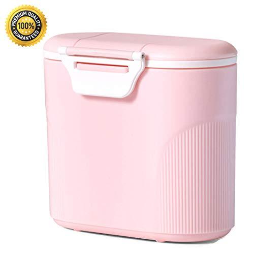 Joyfeel's Store Milchpulver Aufbewahrung Milchpulver Spender Portable Baby Milchpulver Dose Container Box Lebensmittel Snacks Obst Lagerungmit Gleichmacher 600ML (Rosa) (Milchpulver-box)