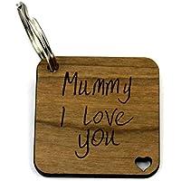 Kids Handwriting Effect Keyring Mum Birthday Christmas