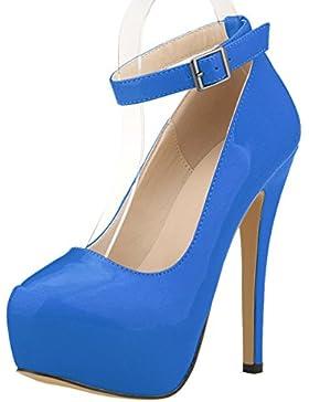MEI&S Donna punta tonda Stiletto bocca poco profonda Prom Tacchi Alti Wedding Corte pompe scarpe