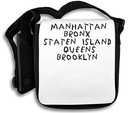 Manhattan Bronx Staten Island Schultertasche