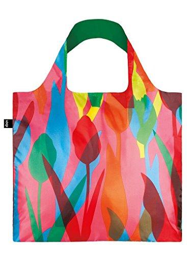LOQI Travel Einkaufstasche, Mehrfarbig (Tulips), 50 x 42 cm
