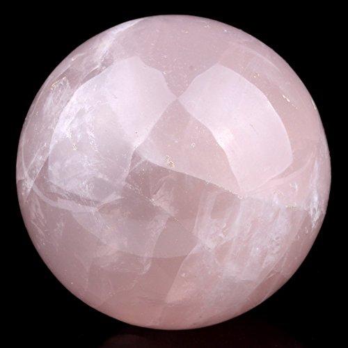 Healing Crystals India Natürlicher Rosenquarz, 55-60mm, polierte Kristallkugel, für metaphysische Heilung, Mineralstein, Feng Shui, Chakra, Aura, Balance-Stein -