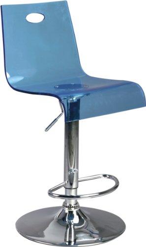 Eliza Tinsley - Taburete ajustable, color azul translúcido