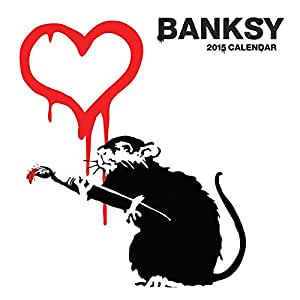 BANKSY 2014 UK SQUARE WALL CALENDAR BRAND NEW AND FACTORY SEALED BY CAROUSEL