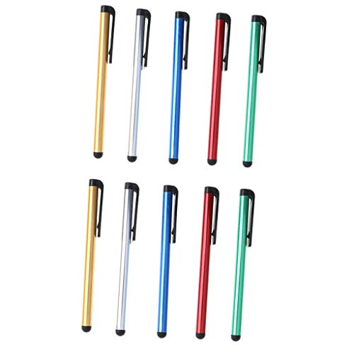 D DOLITY 10 Stücke Univeral Stylus Stifte Resistiver Touchscreen Eingabestift Stylus Pen Schreibstift für Handys, Tablet, Gamekonsole