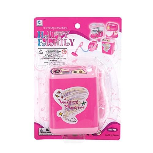 Brucelin Waschmaschine Spielzeug Für Kinder, Mini-Küchenelektrogerät Waschmaschine Spielzeug Set Dummy Vorgetäuschtes Spiel