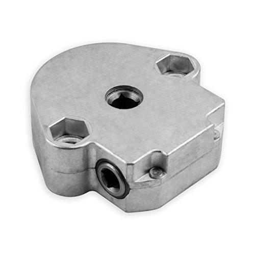 DIWARO S067 Rolladengetriebe 4:1, Antrieb 6 mm Innenvierkant, Abtrieb 7 mm Innenvierkant, ohne Endanschlag, Kurbelgetriebe, Kegelradgetriebe, Schneckengetriebe für Rolladen Stahlwelle im Rolladenkasten, Getriebe für beidseitige Verwendung geeignet …
