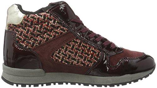 Marc Shoes Raven, Baskets Basses Femme Rouge - Rot (Bordo-combi 00156)