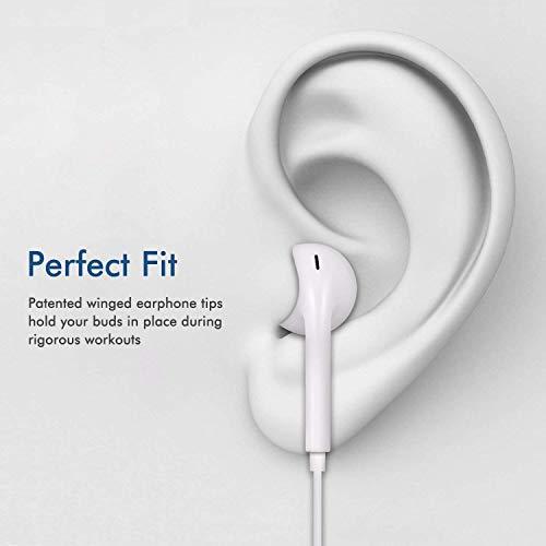 Ohrhörer mit Mikrofon und Fernbedienung, Premium Ohrhörer Stereo Kopfhörer für iPhone XS Max, XS, X, 8,7/8 Plus, 7 Plus (Weiß) - 2