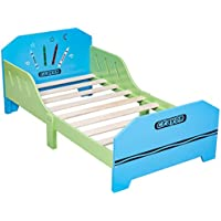 Preisvergleich für COSTWAY Kinderbett Jugendbett Bettliege Bettgestell Holz Bett Spielbett Kindermöbel Lattenrost 70 x 140 cm