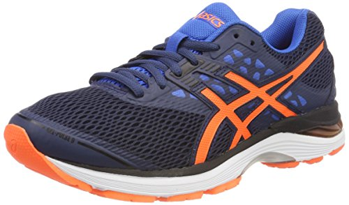 Asics Gel-Pulse 9, Scarpe da Running Uomo, Blu (Dark Blue/Shocking Orange/Victoria Blue), 42.5 EU
