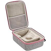 Bolsa portátil de almacenamiento de maleta dura a prueba de golpes con mini prensa de calor y accesorios (160 210 90 mm / 6.30 8.27 3.54 pulgadas)