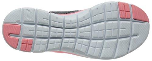 Skechers Flex Appeal 2.0 New Image, Baskets Basses Femme Gris (Cccl)