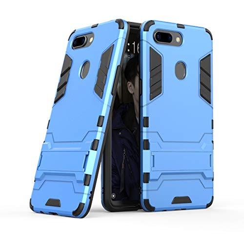 Xinanlongjb Für Oppo R15 Pro (Oppo R15 Dream Mirror Edition) mit Fallschutzhalterung Classic 2 in 1 Armor Series Coole Handyhalterungsfunktion Hartschalen-Hülle (Farbe : Blau)