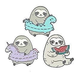 Creativo goccia dell'olio semplice sveglio Moda Sloth Spilla qualità Cartoon Badge affidabile