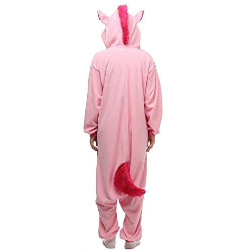 Imagen de kischers pijama de franela unicornio pieza hombre mujer cartoon animal ropa de con capucha pijama cosplay disfraz de la mujer s(145 155mm , rosa  alternativa