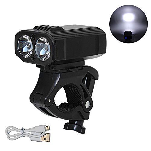 TEHWDE Fahrradlicht Set,LED Fahrradbeleuchtung Set, USB aufladbar, wasserdichte Fahrradlampe,Fahrradlicht LED, Rücklicht und Frontlicht,5 Licht-Modi,Fahrradlichter mit Li-ion Akku