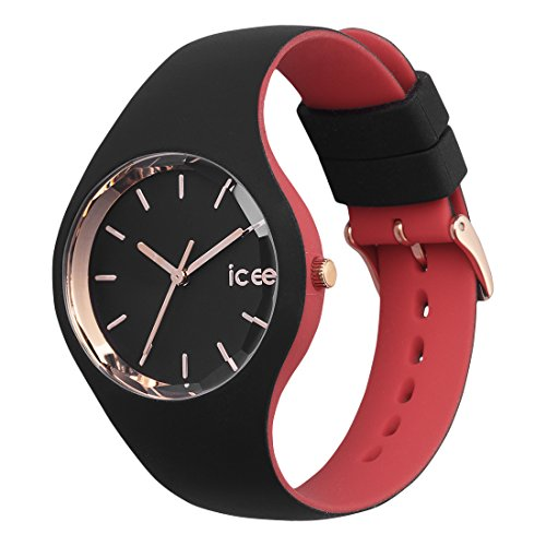 Ice-Watch – ICE loulou Black Rose-Gold – Women's wristwatch with silicon strap – 007226 (Small)