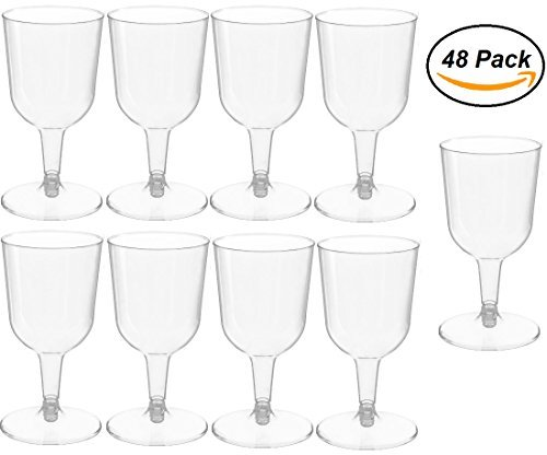 (48Stück klar Kunststoff classicware Glas wie Champagner Hochzeit Parteien anrösten Flöten 5Oz)
