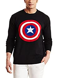 Flying Machine Mens Cotton Sweater (8907163114600_FMSW0232_Large_Black)