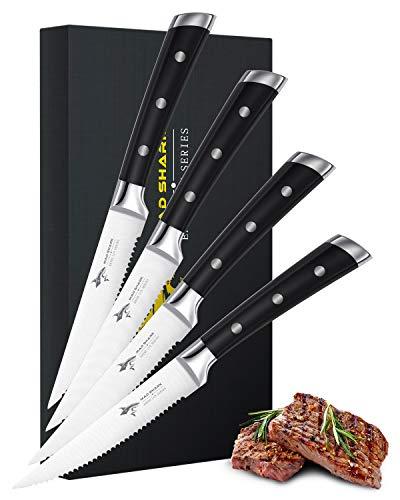 MAD SHARK Kochmesser Pro Küchenmesser, Geschmiedete Klinge Deutscher Ergonomischer Edelstahlgriff, die Beste Wahl Für Küche und Familienrestaurant